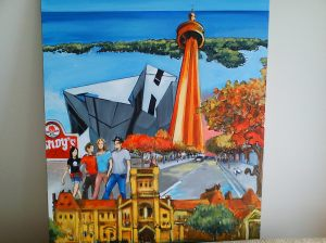 Painting commissioned to capture Toronto memories.